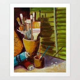 Brushes at the Ready Art Print