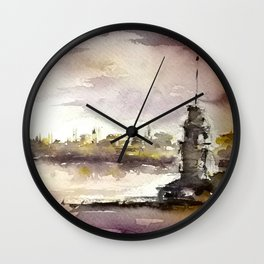 Maidens Tower Istanbul Wall Clock