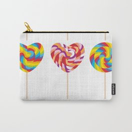 lollipops, colorful spiral candy cane with twisted design Carry-All Pouch
