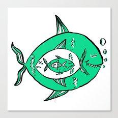It's a big fish kind of world! Canvas Print