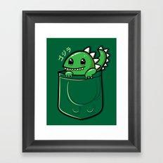 Pocket Godzilla Framed Art Print