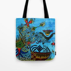 about angels and pirates Tote Bag