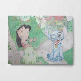 Lilo & Stitch at Home Metal Print