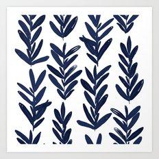 Sage - Indigo Art Print