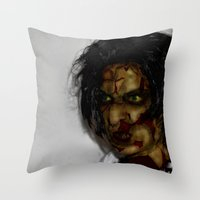 zombie Throw Pillows featuring Zombie!!  by Jake Stanton