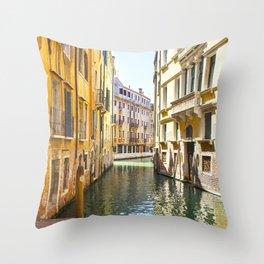 A Gondola Ride through Venice Throw Pillow