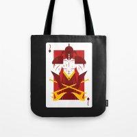berserk Tote Bags featuring Jack of Diamonds - Warrior Jack by Thirdway Industries Shop