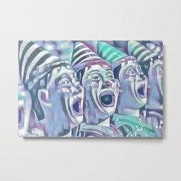 Clown Class (blocked blue & cyan) Metal Print