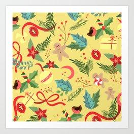Christmas Pattern 3 Art Print