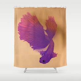 Betta Fish 1 Shower Curtain