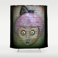 writer Shower Curtains featuring Ghost Writer by Terrestre