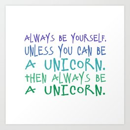 unicorns! Art Print