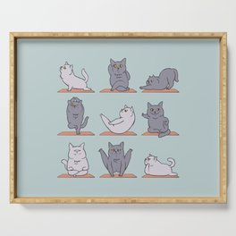 British Shorthair Cat  Yoga Serving Tray