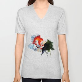 Ryukin Goldfish Unisex V-Neck