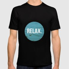 RELAX MEDIUM Black Mens Fitted Tee