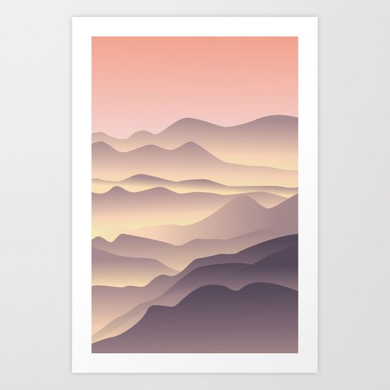 5 am on the top Art Print