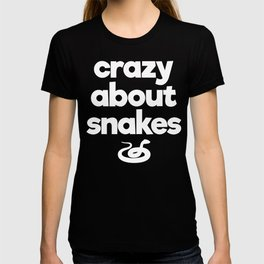 Crazy About Snakes Proud Reptile Parent T-Shirt T-shirt