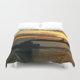 The End Of A Beautiful Day Duvet Cover