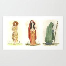 The Maiden, Mother, and Crone   Art Print