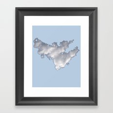 Cloud on Blue 2 Framed Art Print
