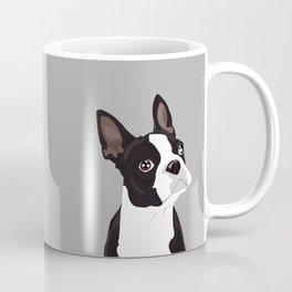Boston Terrier Portrait - Grey Kaffeebecher