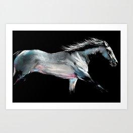 ' RACE ON ' Horse Racing Print by Shirley MacArthur Art Print