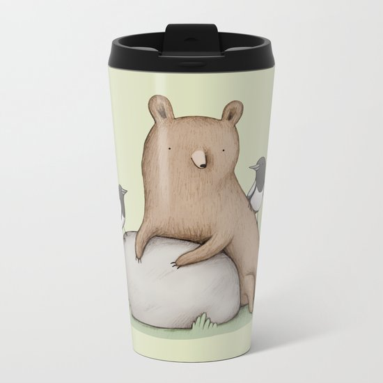 Bear & Birds Metal Travel Mug