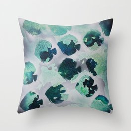 Tropical Fish Green Throw Pillow
