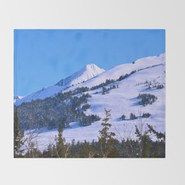 Back-Country Skiing  - IV Throw Blanket