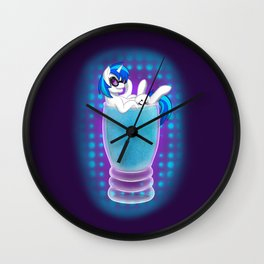 Drink Ponies: Vinyl Scratch Wall Clock