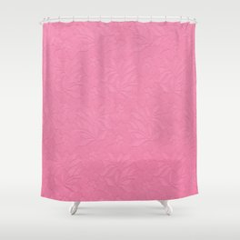 Girly trendy fuschia pink elegant floral french lace Shower Curtain