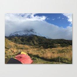 Campsite Patagonia Canvas Print