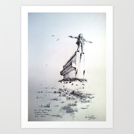 king of this piano Art Print