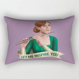 Bard: Let Me Inspire You Rectangular Pillow