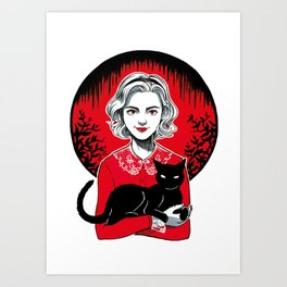 Teenage Witch Art Print