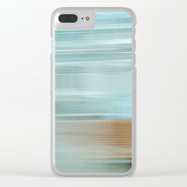 Life (Aqua and Burnt Rose) Clear iPhone Case