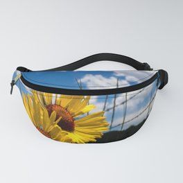 A Rocky Mountain Sunflower Fanny Pack