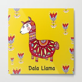 Dala Llama Metal Print