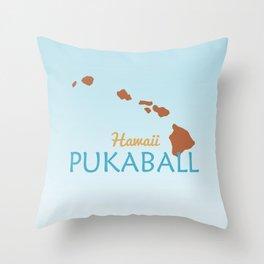 Hawaii Pukaball Throw Pillow