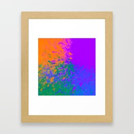 Iridescent Fury Framed Art Print
