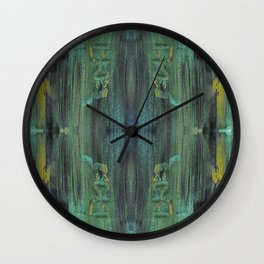 Textures (Green) Wall Clock