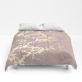 Kintsugi Ceramic Gold on Clay Pink Comforters