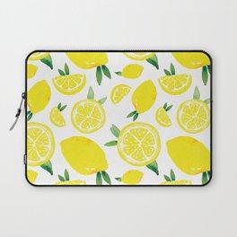 Zesty Lemon Pattern Laptop Sleeve