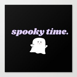 spooky time Canvas Print
