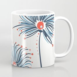 Five Fuzzy Flowers Coffee Mug