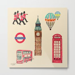 Quintessentially British Metal Print