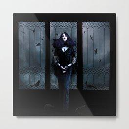 Lady of Crows Metal Print