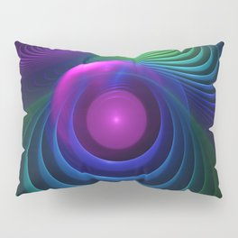 Beautiful Rainbow Marble Fractals in Hyperspace Pillow Sham