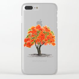 flame of the forest tree Clear iPhone Case