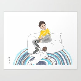 Morning Routine 2 - Getting dressed Art Print